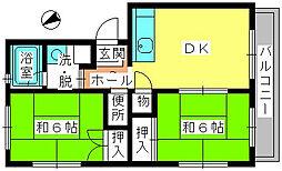レジデンス飯田[205号室]の間取り