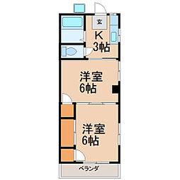 湘南グリーンハイム[3階]の間取り