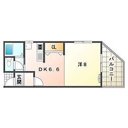 梶町アパート[2階]の間取り