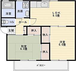 エクセルハイツA棟[2階]の間取り