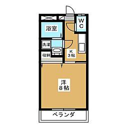 下東野コーポIII[1階]の間取り