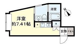 ASTILE下北沢III 2階ワンルームの間取り