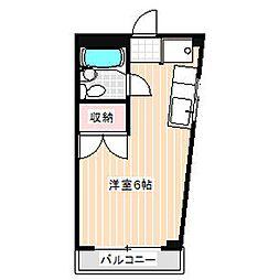 三沢ビル厚木ハイツ[307号室]の間取り