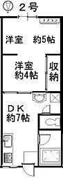 佐藤コーポ[202号室号室]の間取り