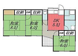 [一戸建] 千葉県千葉市若葉区坂月町 の賃貸【/】の間取り