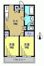 クレストオクト[2階]の間取り