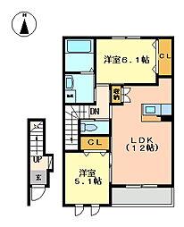 ヴァンベール[2階]の間取り