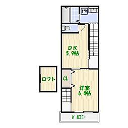 無添加タウン葛飾D棟[2階]の間取り