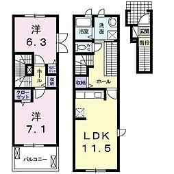 ルミエール1[2階]の間取り