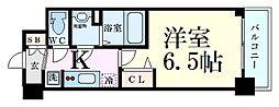 プレサンス新大阪イオリア 10階1Kの間取り