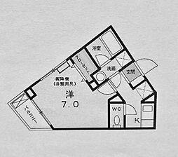 ドミール西前[4階]の間取り