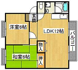 灰塚パークサイドビレッジ[2階]の間取り