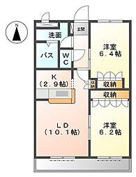 GreenBoss[3階]の間取り