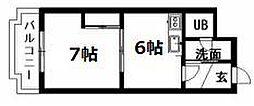 北海道札幌市清田区真栄一条2丁目の賃貸マンションの間取り