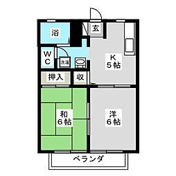 ラージヒル[2階]の間取り