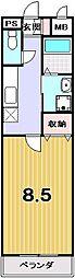 プリジェール紫野[2階]の間取り