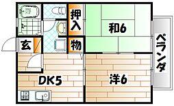 ハイツINOUE[2階]の間取り