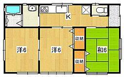 [一戸建] 茨城県日立市田尻町5丁目 の賃貸【茨城県 / 日立市】の間取り