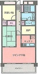 サザントゥリーII[5階]の間取り