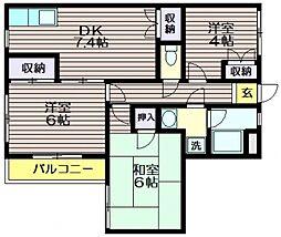 エクセル仙川[2階]の間取り