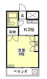 ガーデンビュー[2階]の間取り
