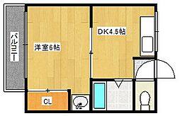 大阪府大阪市西成区玉出西2丁目の賃貸マンションの間取り
