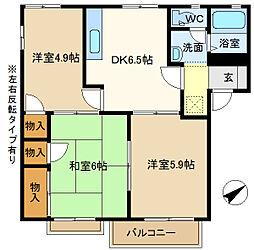 第5岡野ハイツ 203[2階]の間取り