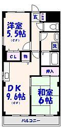 コスモ大野[2階]の間取り