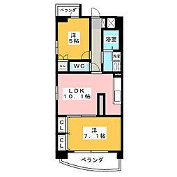 プレミアマルシェ白壁[11階]の間取り