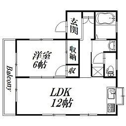 静岡県浜松市北区新都田5丁目の賃貸アパートの間取り