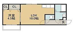 ハウスオブマーキスII[4階]の間取り