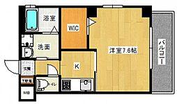 LE DOME東蟹屋 7階1Kの間取り