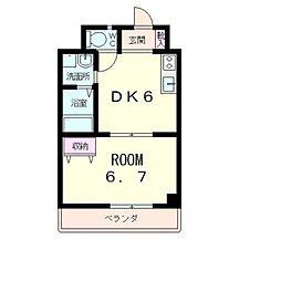 レジデンス五個荘[3階]の間取り