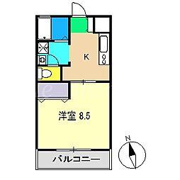 コーポ麦笛[1階]の間取り