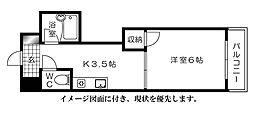 エオス舟入[304号室]の間取り