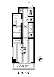 東京都練馬区高野台の賃貸マンションの間取り