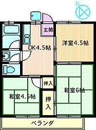東京ハイツ[201号室]の間取り