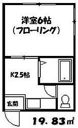 コニファ[202号室]の間取り