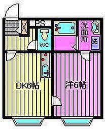 埼玉県熊谷市曙町4丁目の賃貸アパートの間取り