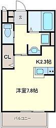 シャトル北野[2階]の間取り