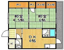 赤澤マンション[301号室]の間取り