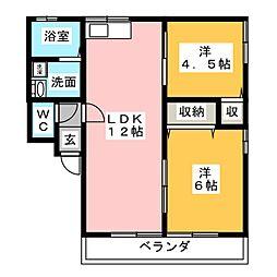 シティハイムレトア B[1階]の間取り