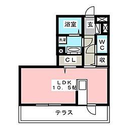 愛知県刈谷市南沖野町1丁目の賃貸アパートの間取り