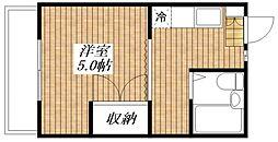 サンハイム太田[203号室]の間取り