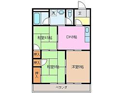 桜アートハイム A棟[2階]の間取り