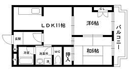 ウィステリア夙川[101号室]の間取り