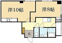 ロイヤルハウスL[1階]の間取り