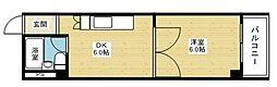 マンションクインビー[3階]の間取り