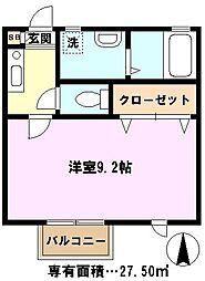 埼玉県川口市並木3丁目の賃貸アパートの間取り