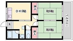 エクセレント宝殿3号棟[511号室]の間取り